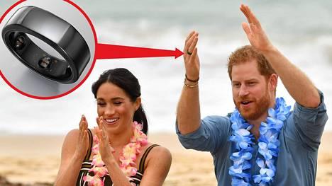 Prinssi Harry ja herttuatar Meghan vierailevat parhaillaan Australiassa. Harryn sormessa herätti huomiota musta älysormus.