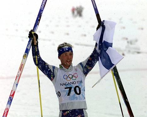 Mika Myllylä voitti olympiakultaa Naganossa 1998.