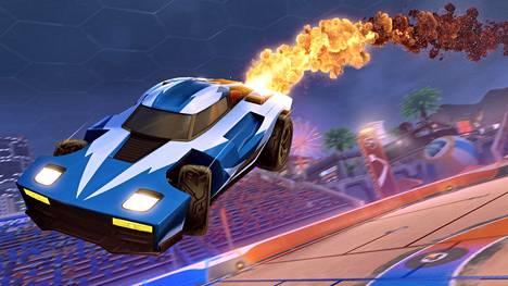 Rocket Leaguessa ohjataan rakettimoottoreilla varustettuja autoja.