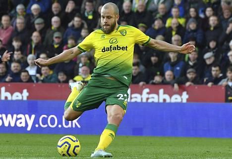 Teemu Pukki teki maalin sunnuntaina Arsenalia vastaan.