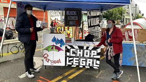 Mielenosoittajat ovat vallanneet Seattlessa noin kuuden korttelin kokoisen alueen.