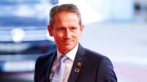 Tanskan valtiovarainministeri Kristian Jensen Wienissä 8. syyskuuta 2018.