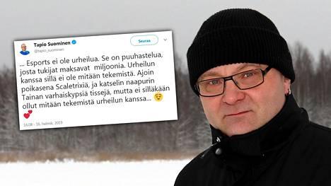 Tapio Suominen latasi Twitterissä, ettei esportsilla ole mitään tekemistä urheilun kanssa. Kaikki eivät olleet samaa mieltä.