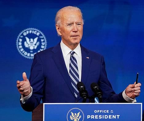 Joe Bidenin on määrä aloittaa presidenttikautensa ensi vuonna.