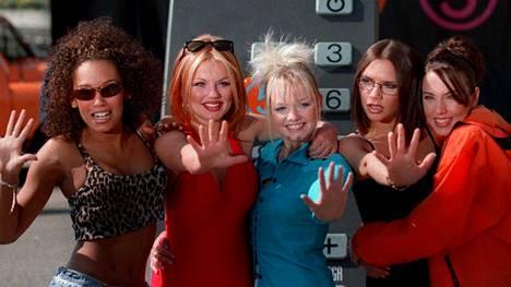 Spice Girls -mania toi Mel B:lle (kuvassa ensimmäinen vasemmalta) miljoonaomaisuuden. Sen hän myös tärväsi.