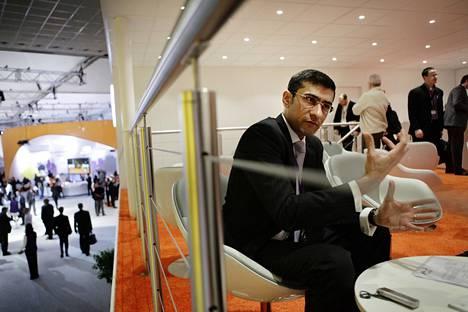 Rajeev Suri esitteli NSN:n toimintaa Barcelonan kännykkämessuilla helmikuussa 2013.
