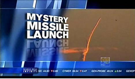 CBS 8 -uutiskanava näytti helikopterista kuvattua ohjusta.