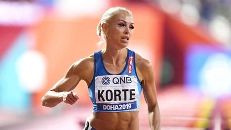 Annimari Korte kuvattuna Dohan MM-kisoissa vuonna 2019.