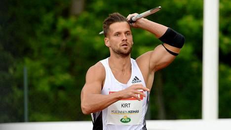 Magnus Kirt heitti Vantaalla hurjan tuloksen.