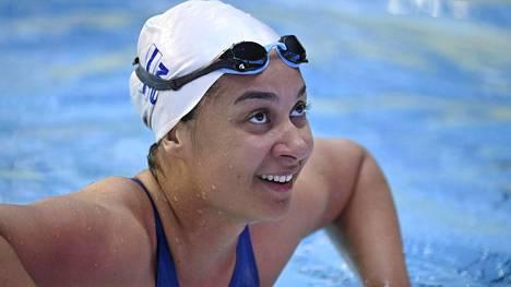 Mimosa Jallow esiintyi vakuuttavasti 50 metrin selkäuinnin välierissä.