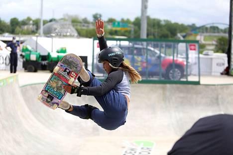 Sky Brown osallistui olympiakarsintoihin jo 10-vuotiaana vuonna 2019.