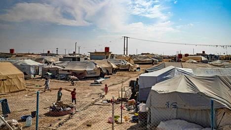 Yleiskuvaa al-Holin leiriltä 17. lokakuuta 2019.