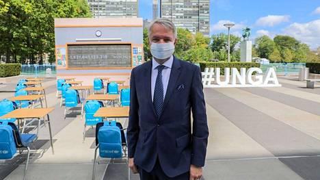 Pekka Haavisto osallistuu tällä viikolla YK:n yleiskokoukseen New Yorkissa.