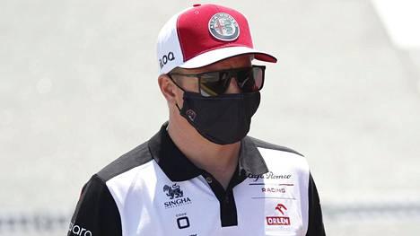 Kimi Räikkönen kuvattuna torstaina.