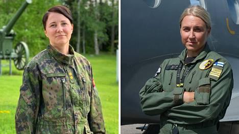 Sini Kouri ja Liina Kavekari saivat ylennyksen.