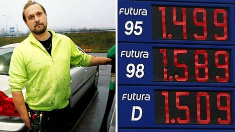 Upinniementien Neste Expressillä diesel oli kalliimpaa kuin 95-bensa.