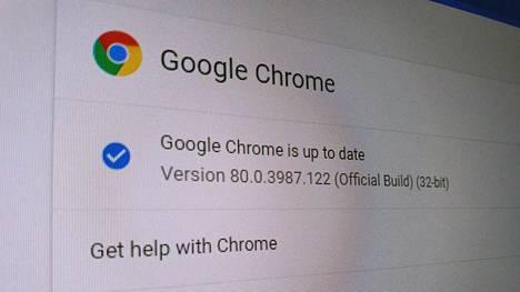 Chromen päivittyminen saattaa edellyttää selaimen uudelleenkäynnistämistä.