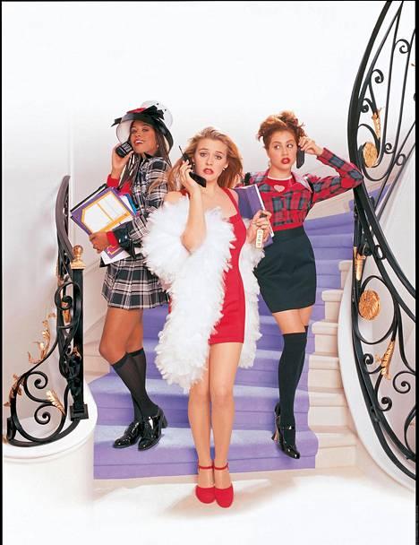 Brittany Murphy ponnahti tähdeksi 90-luvun alussa. Hänet muistetaan muun muassa Clueless-hittielokuvasta, jossa hänet nähtiin Alicia Silverstonen (kesk.) ja Stacey Dashin (vas.) kanssa.