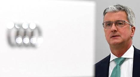 Audin toimitusjohtaja Rupert Stadler ei ole voinut johtaa kesäkuun puolivälin jälkeen autonvalmistusta.