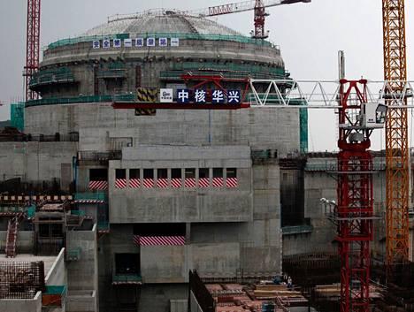 Taishanin ydinvoimala kuvattuna vuonna 2013. Kahden toiminnassa olevan kiinalaisvoimalan lisäksi pari vastaavaa EPR-reaktoria on rakenteilla Kiinassa, ja Euroopassa Suomen lisäksi Ranskassa (Flamanville 3) ja Britanniassa (kaksi yksikköä, Hinkley Point C).