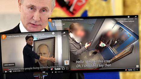 Putinin ja kansalaisten kustannuksella pilailtiin hississä.