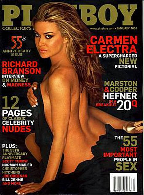 Carmen Electra verhosi sulonsa vain mustaan kankaaseen.