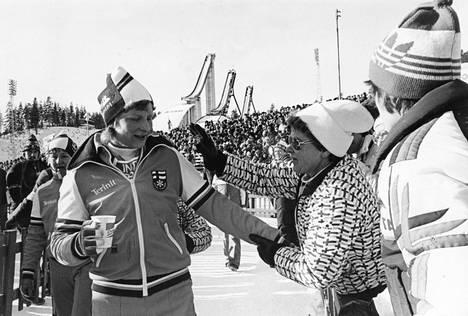 Marja-Liisa Hämäläinen Lahden MM-kisoissa vuonna 1978.