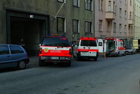 Tony Halmeen asunnolla Helsingin Tarkk'amupjankadulla ammuttiin vuonnqa 2003.