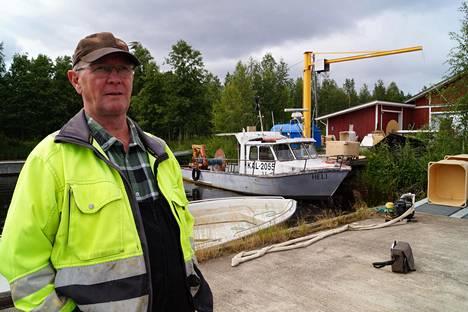 Tarmo Tolvanen on kalastanut Haukivedellä ammatikseen kohta 30 vuotta.