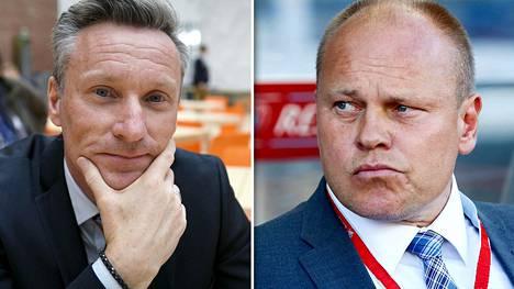 Sixten Boströmin (vas.) ja Mixu Paatelaisen ammattitaitoa arvostetaan Latviassa.