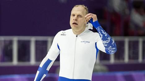 Pekka Koskela kuvattuna Pyeongchangin olympialaisissa 2018. Näihin kisoihin hänen uransa päättyi.
