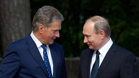 Niinistö ja Putin Kultarannassa kesällä 2016.
