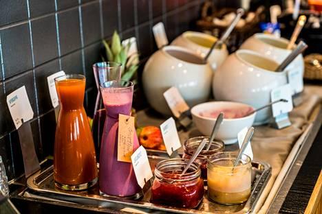Hotelliaamiaisella on tarjolla myös raikkaita makuja, kuten smoothieita.