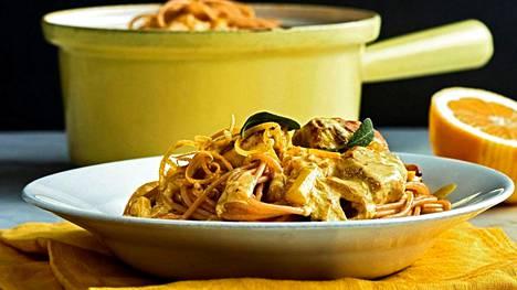 Pollo limonellossa käytetään yleensä kuohukermaa, mutta hieman kevyemmän version saat, kun käytät sen sijaan ruokakermaa.