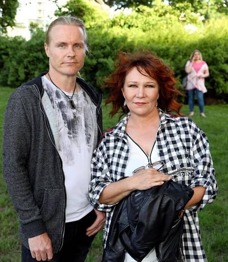 """Ari """"Nude"""" Kaasalainen ja Vicky Rosti tapasivat syksyllä 2011."""