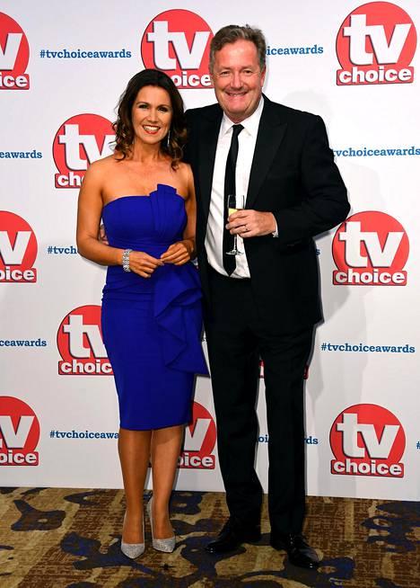 Susanna Reid and Piers Morgan juontavat yhdessä suosittua brittiläistä aamuohjelmaa.
