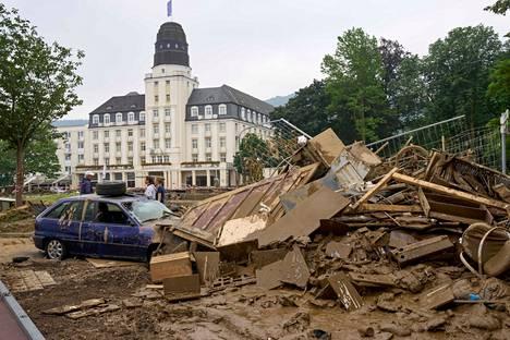 Tulva on tehnyt pahaa tuhoa muun muassa Bad Neuenahr–Ahrweilerin kaupungissa.
