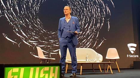 Mikko Hyppönen puhui Slush-tapahtumassa viime marraskuussa.