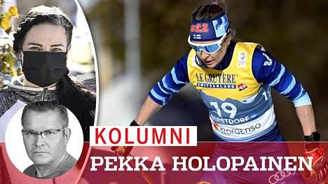 Tiistain kisassa suomalaisnelikon nuorin, 30-vuotias Krista Pärmäkoski (vas.) ylsi sijalle 13, ja porukan vanhin, 42-vuotias Riitta-Liisa Roponen sijalle 10.