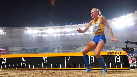 Tilde Johansson kisasi Dohan MM-kisoissa viime vuonna.
