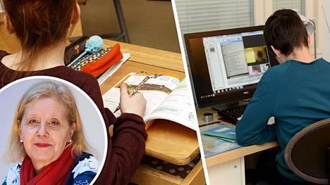 Helsingin yliopiston kasvatustieteiden professori Katariina Salmela-Aron mukaan on tärkeää puuttua kouluhyvinvoinnin laskuun.
