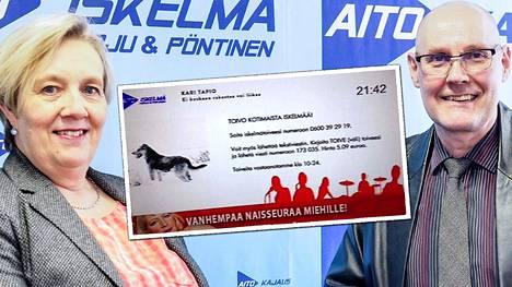 Hannu ja Tarja Harju pyörittävät tv-kanavaa, joka lähettää vain radio-ohjelmaa.