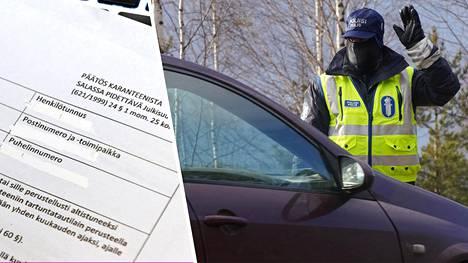 Poliisi tarkasti keväällä Uudenmaalla liikkujien ajoneuvoja.