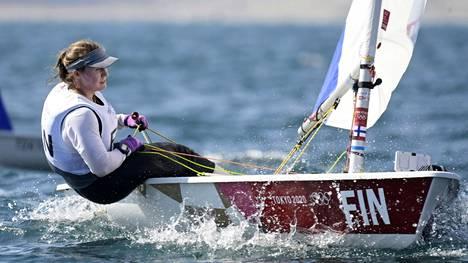 Tuula Tenkanen on menestynyt hyvin purjehduksen laser radial -luokassa olympialaisissa.