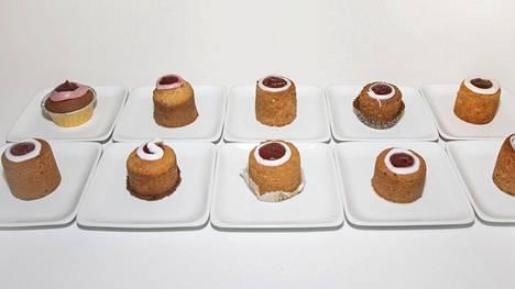 Ruokakauppojen torttujen ulkomuodoissa ja rakenteissa on selkeitä eroja.