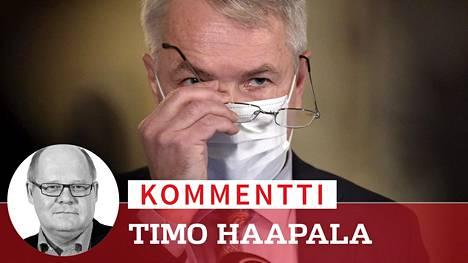 Ulkoministeri Pekka Haavistosta (vihr) tuli taakka puolueelleen. Vihreiden kannatus tippui alimmaksi viiteen vuoteen.