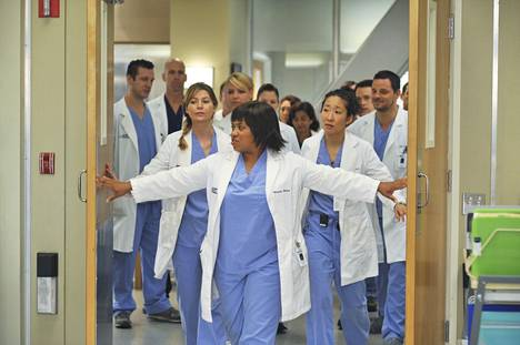 Greyn anatomia sijoittuu Seattle Grace -sairaalaan. Ensimmäisellä kaudella kirurgiharjoittelijat ovat kokeneempien ja vaativien kirurgien opissa. Etualalla Miranda Bailey, jota näyttelee Chandra Wilson.