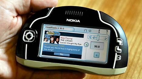 Nokia kokeili kosketusnäyttöä Nokia 7700-laitteessa jo vuonna 2003.