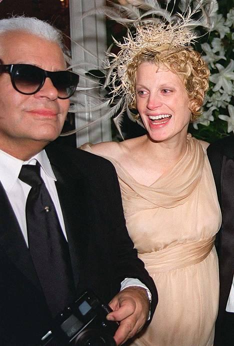 Karl Lagerfeld ja Kristen McMenamy.