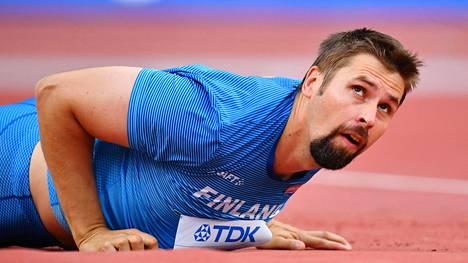 Antti Ruuskanen jäi Dohan keihäskarsinnassa tulokseen 75,05.